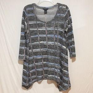 Chelsea & Theodore Scoop Neck Knit Sweater